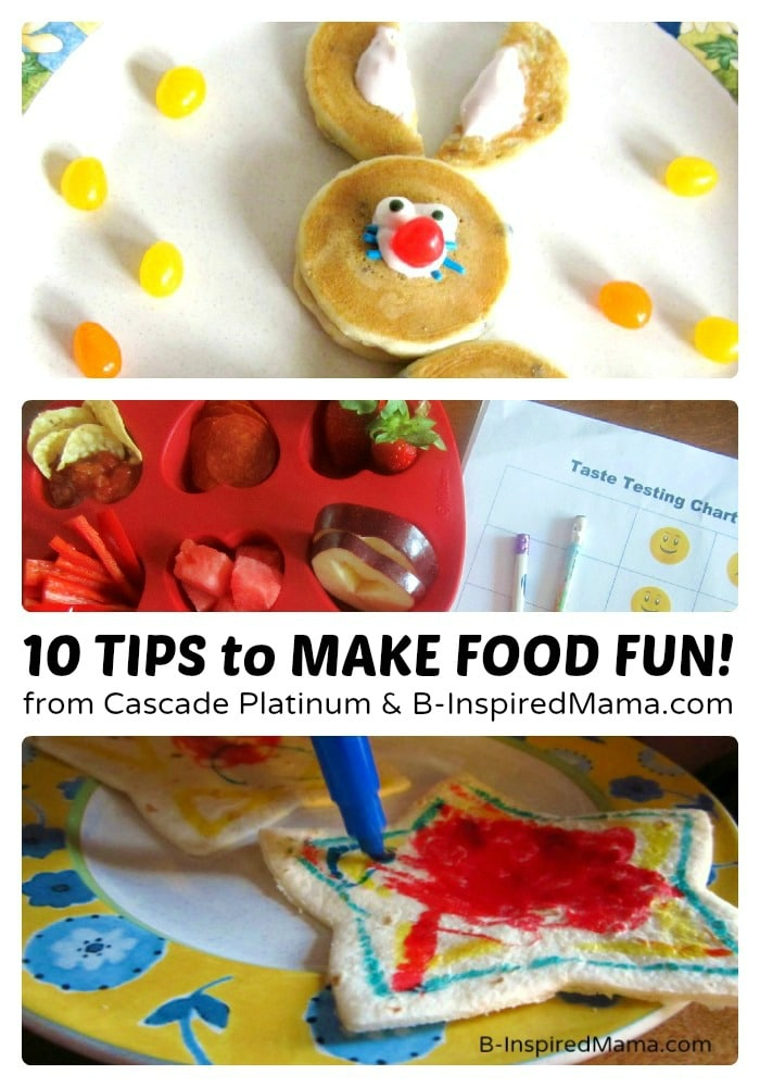 Fun Food Presentation for Picky Eaters [Sponsored by Cascade #MyPlatinum]