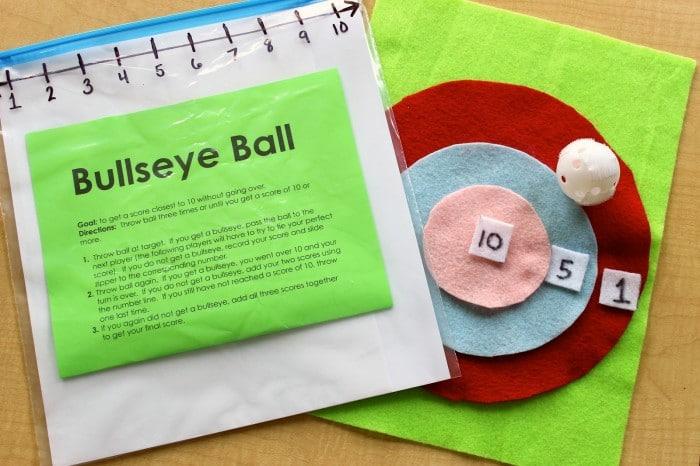 DIY Bullseye Ball Math Game [From the Mamas]