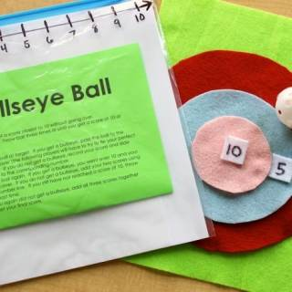 DIY Bullseye Ball Math Game [From the Mamas]