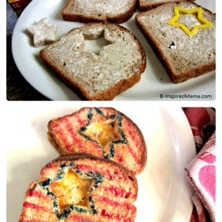 Patriotic Grilled Cheese Sandwiches for Kids