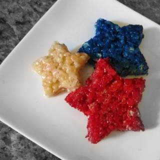 Patriotic Rice Krispie Treat Stars [Sponsored by Unilever Buttery Spreads + Giveaway]