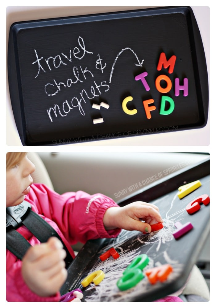 DIY Kids Travel Activity Board from Cloudy with a Chance of Sprinkles at B-InspiredMama.com