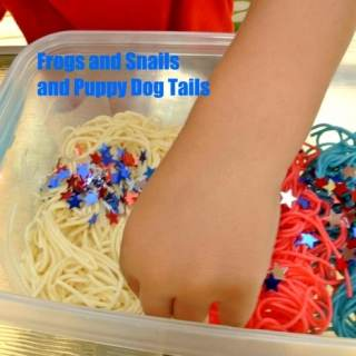 4th of July Preschool Noodle Play [From the Mamas]