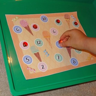 Printable Ice Cream Math Game [Contributed by Gift of Curiosity]