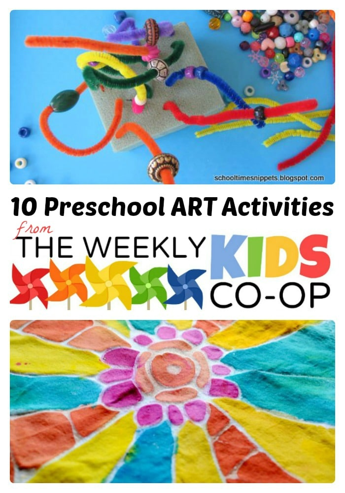 10 Preschool Art Activities from The Weekly Kids Co-Op at B-InspiredMama