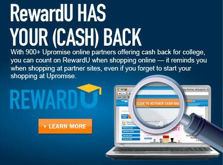 Using RewardU from Upromise for Saving Money for College at B-InspiredMama.com