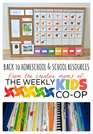 14 Back to Homeschool & School Resources from The Weekly Kids Co-Op at B-InspiredMama.com