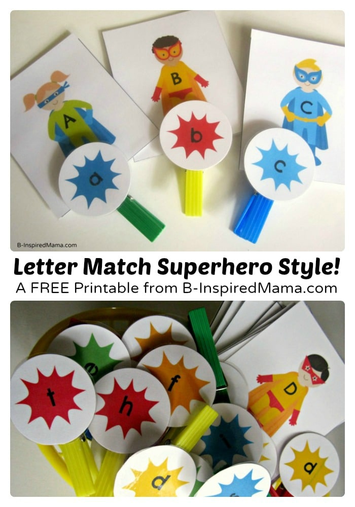 Superhero Upper and Lower Case Letter Match