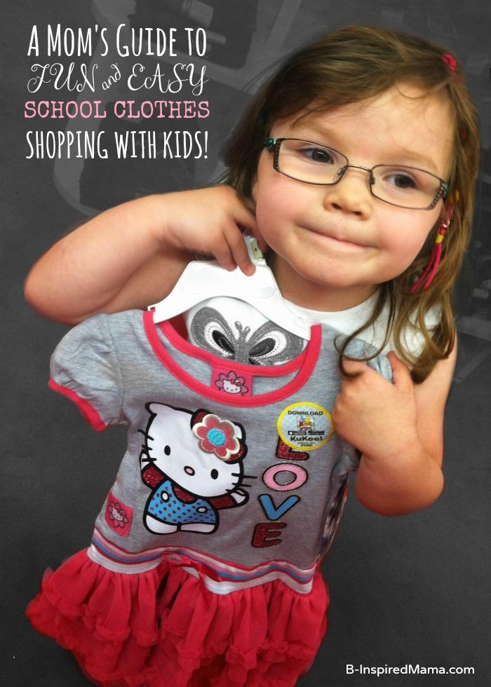8 Tips for Smooth School Clothes Shopping with Kids at B-InspiredMama.com