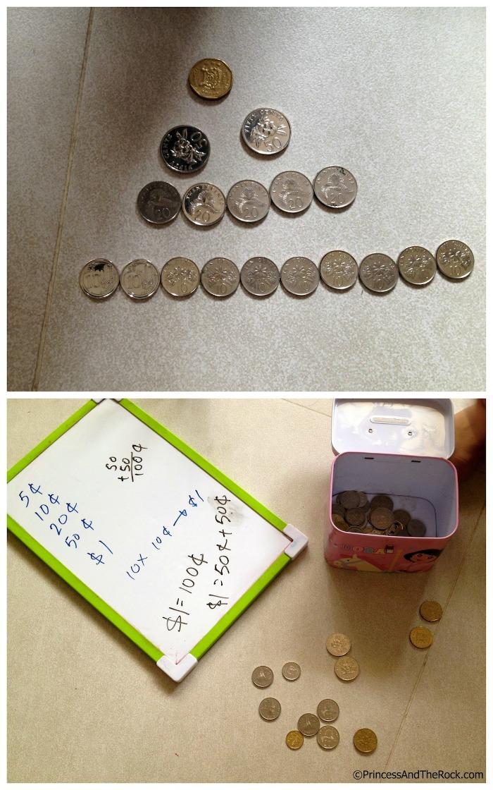 Money Counting Preschool Activities at B-Inspired Mama