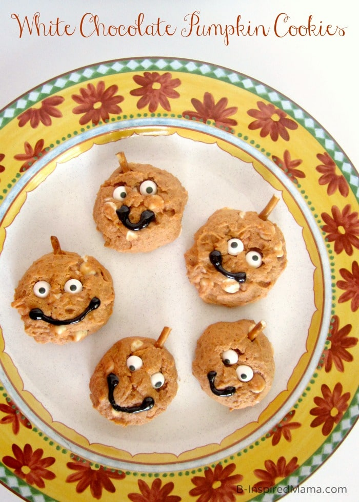 White Chocolate Pumpkin Cookies and More Bake Sale Recipes at B-Inspired Mama