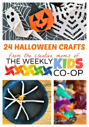 24 Halloween Crafts for Kids at The Weekly Kids Co-Op Link Party