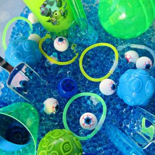 Monster Eyes Sensory Play [Sponsored by Disney]
