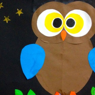 A Shape-ly Owl Craft for Kids