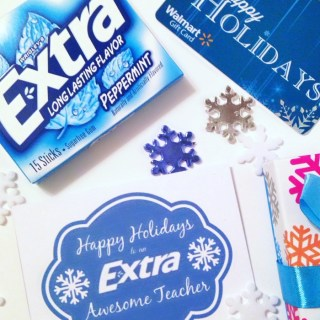An Extra Awesome Holiday Teacher Gift [Sponsored by Extra Gum]
