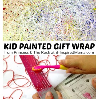 Creative Gift Wrapping with Fun Painted Paper