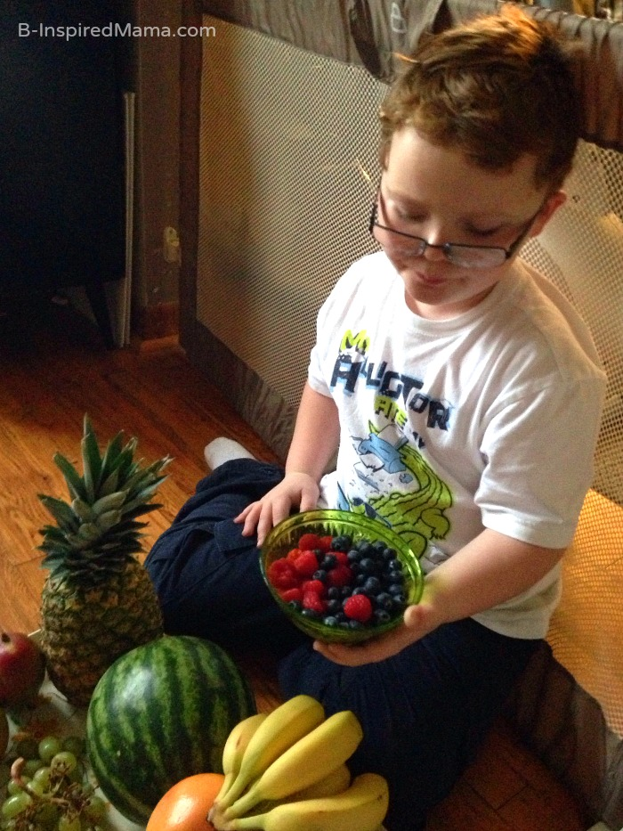 Kids Fruit Exploration and Learning - Sponsored by FruitsMax at B-Inspired Mama