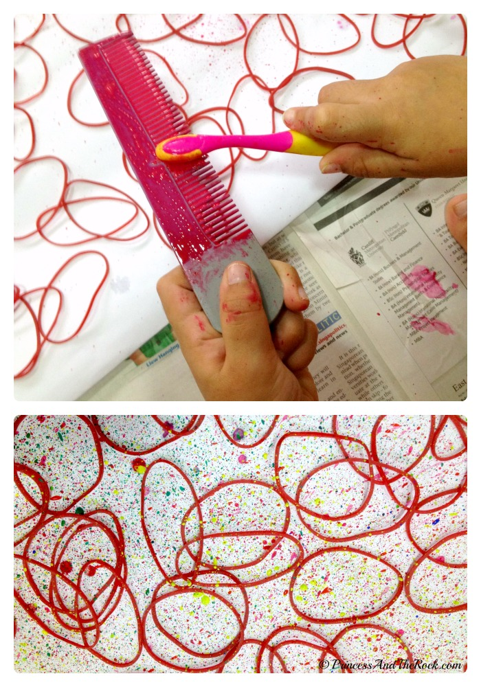 Making Creative Gift Wrapping Paper with the Kids at B-Inspired Mama