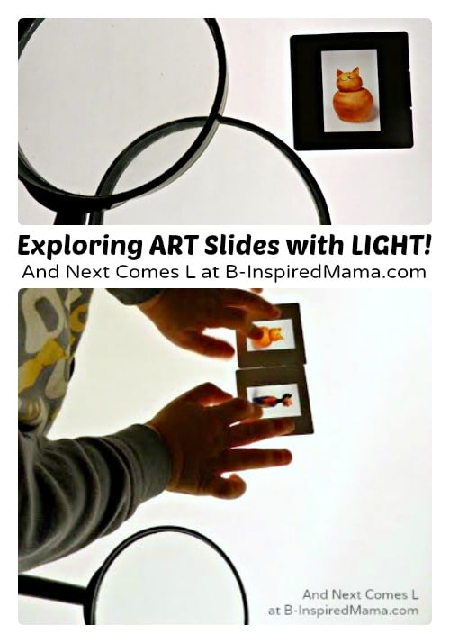Preschool Art Appreciation with Art Slides and LIGHT - B-Inspired Mama