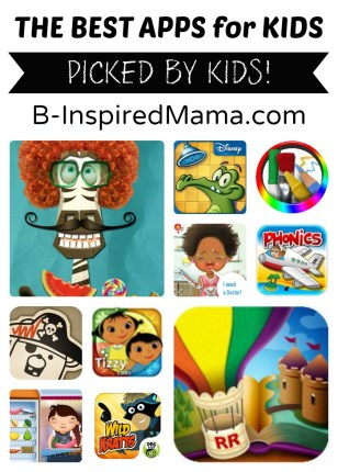 10 Best Apps for Kids at B-Inspired Mama