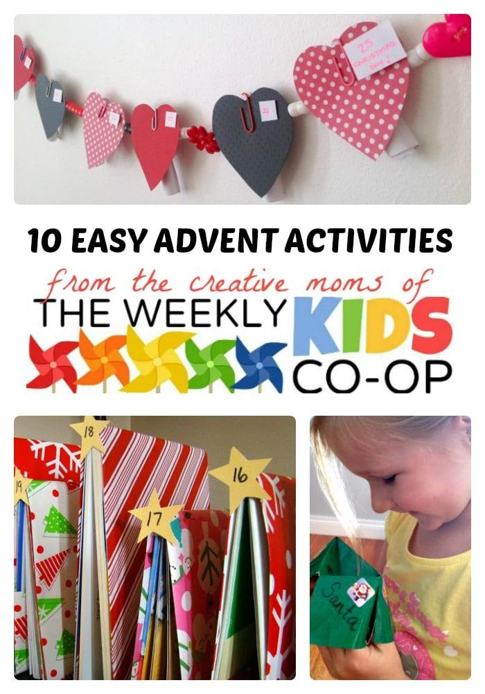 10 easy advent calendar activities for kids b inspired mama for Advent calendar craft for kids