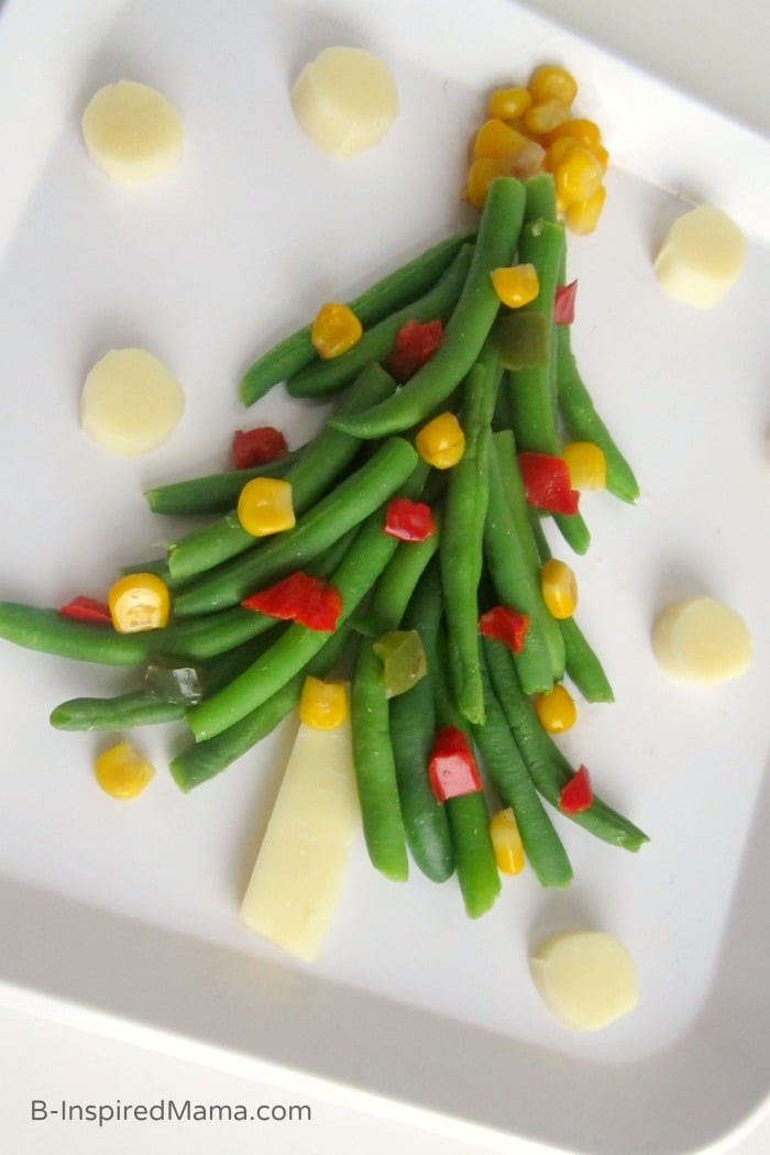 A Christmas Tree of Vegetables for Kids