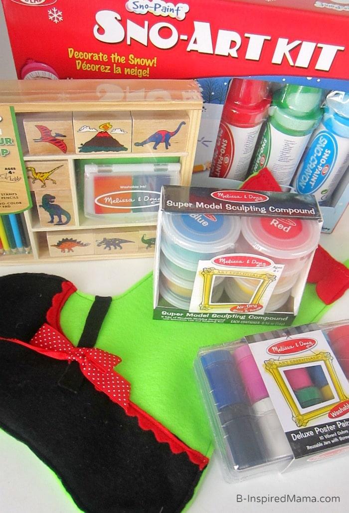 Art Supplies - A Kids Christmas Stocking Full of Creativity - #shop #searsStyle #cbias - B-Inspired Mama
