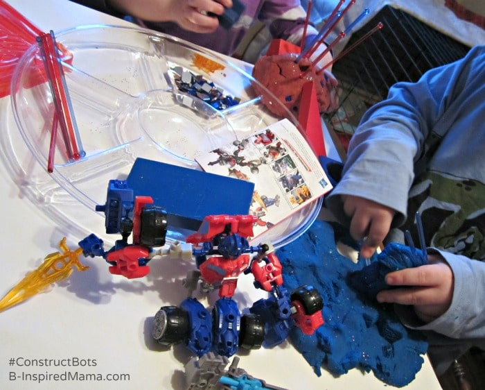 Construct-Bots and Homemade Playdough Fun at B-Inspired Mama