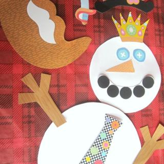 Snowman Dress-Up and Tic-Tac-Toe Game – December Free Printables for Kids