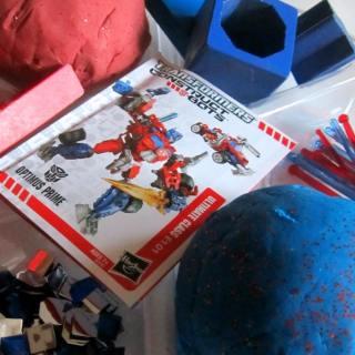 Transformers Homemade PlayDough Fun