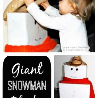 DIY Giant Snowman Blocks