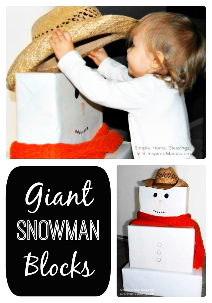 Make Giant Snowman Blocks for the Kids at B-Inspired Mama