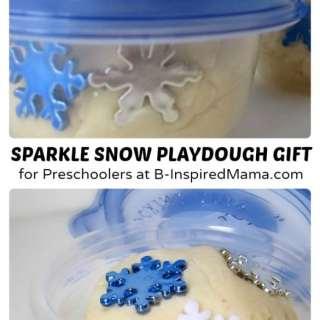 Sparkle Snow Homemade Playdough Gift