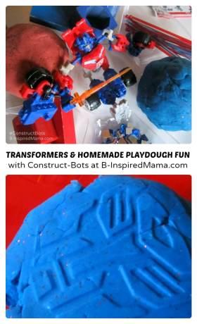 Transformers Construct-Bots and Homemade Playdough Fun at B-Inspired Mama