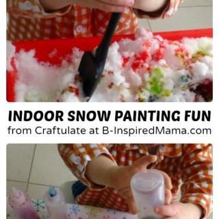 Indoor Snow Painting Fun