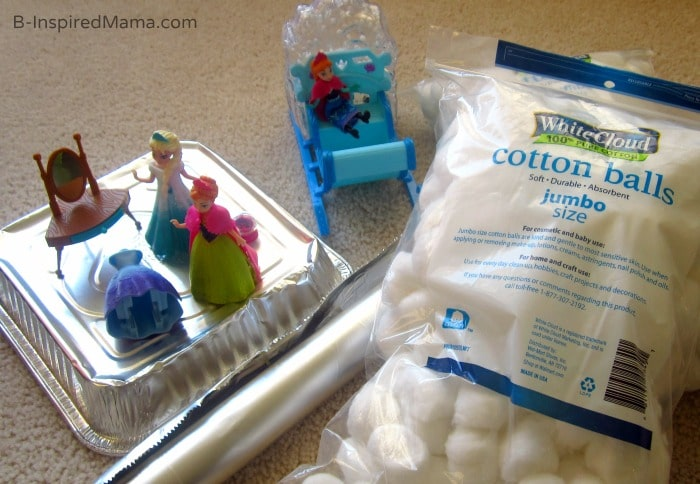 Set Up - Ice and Snow Indoor Kids Play with Disney FROZEN at B-Inspired Mama #FrozenFun #shop #cbias