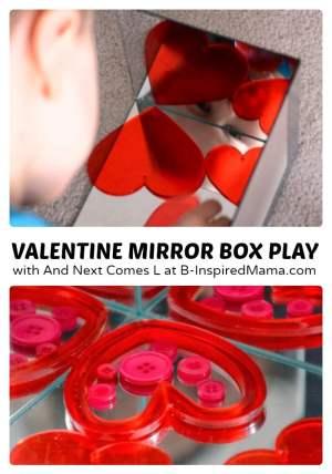 Valentine's Day Mirror Kids Play at B-Inspired Mama