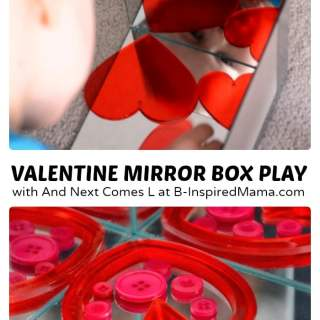 Mirror Kids Play for Valentine's Day