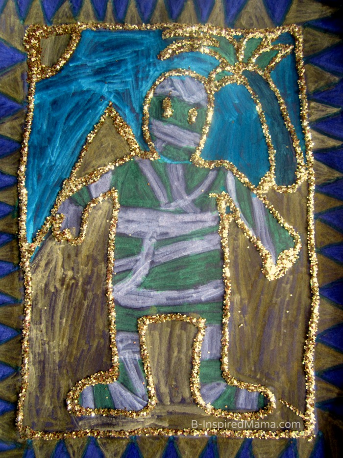 A Glittery Egyptian Inspired Kids Art Project (#Sponsored by #SwifferatTarget) at B-Inspired Mama