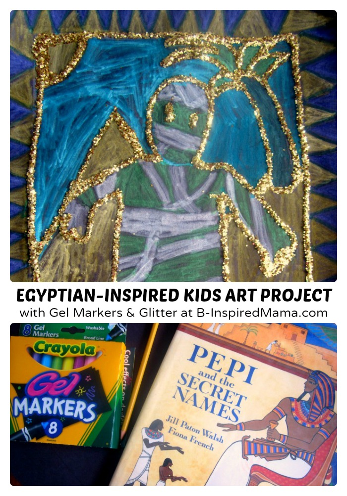 Glittery egyptian inspired art project b inspired mama a golden glittery egyptian inspired kids art project sponsored by swifferattarget at fandeluxe Gallery