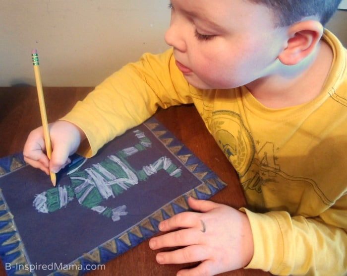 Making an Egyptian Inspired Art Project (#Sponsored by #SwifferatTarget) at B-Inspired Mama