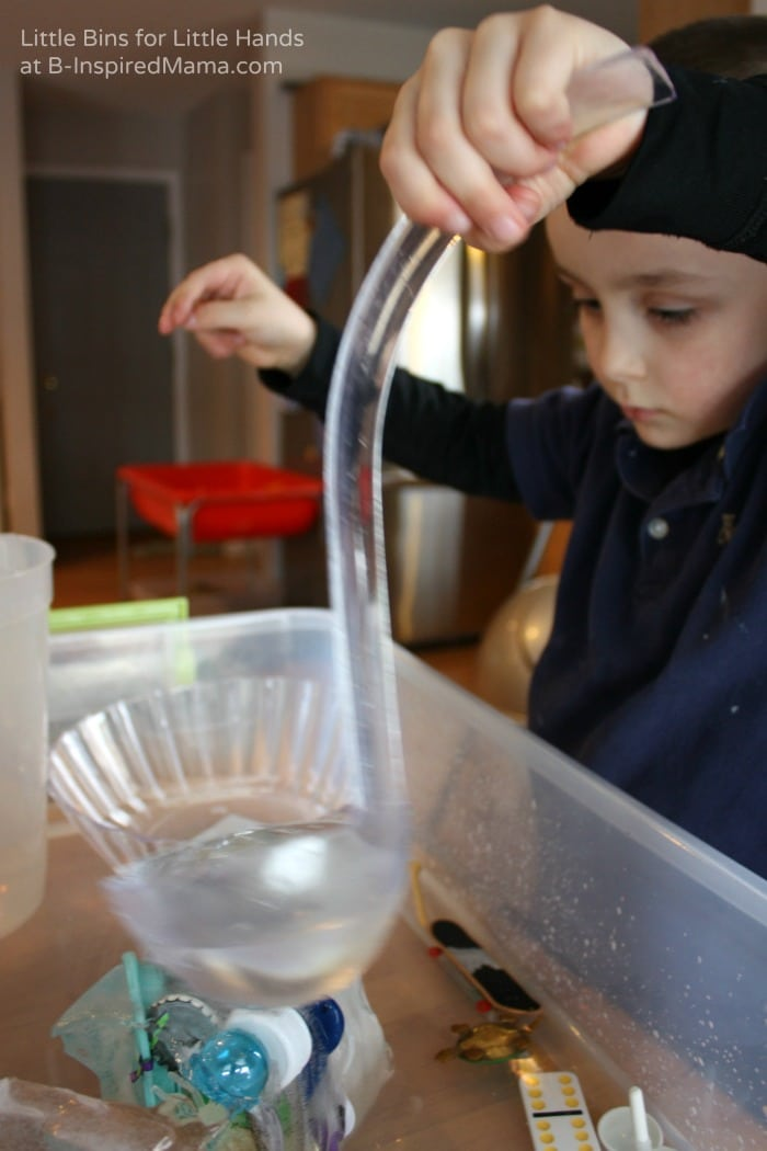 Simple Science for Kids - A Fun Junk Drawer Ice Melt at B-Inspired Mama
