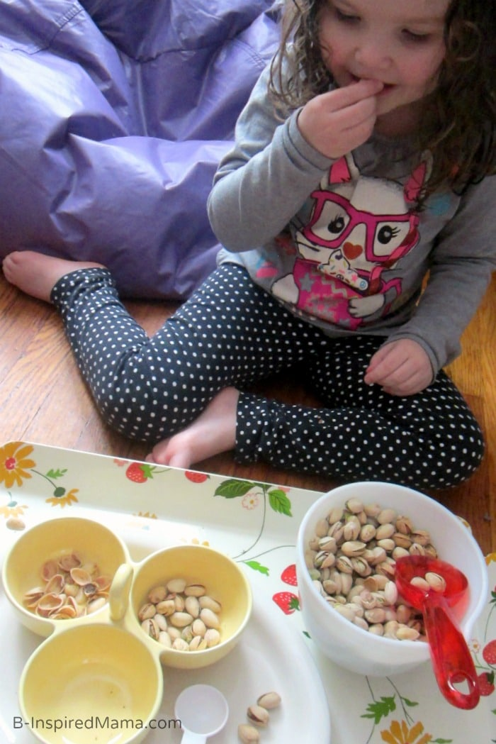 Yummy Early Learning Fun with Pistachios - #Sponsored by #PistachioHealth - B-Inspired Mama