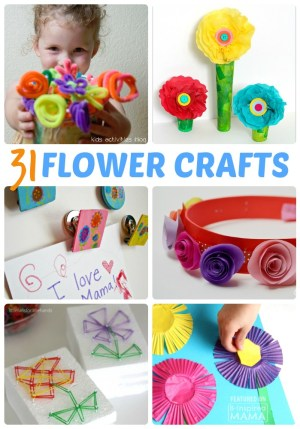 31 Fun Flower Crafts for Kids - Perfect for Spring - at B-Inspired Mama