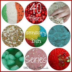 40 Days of Sensory Bin Fillers with Little Bins for Little Hands at B-Inspired Mama