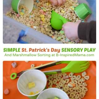 St. Patrick's Day Cereal Sensory Play