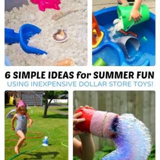 6 Fun Summer Activities using Dollar Store Toys