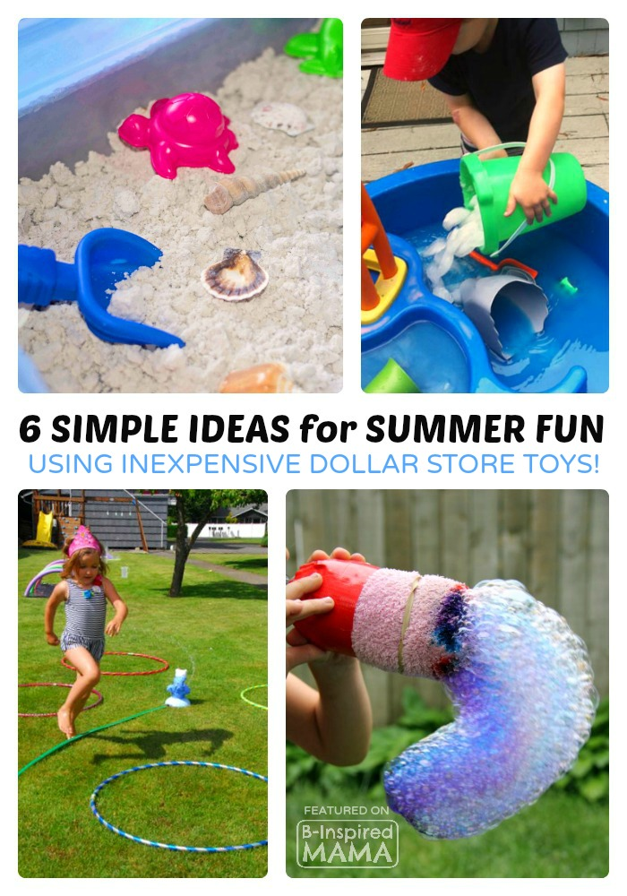 Toys For The Summer : Fun summer activities using dollar store toys