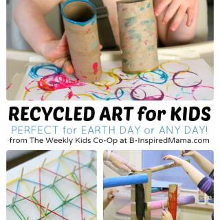 Recycled Art Projects for Kids from The Weekly Kids Co-Op