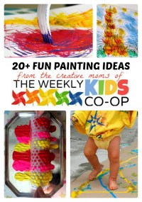 20+ Fun Painting Ideas for Kids + The Weekly Kids Co-Op